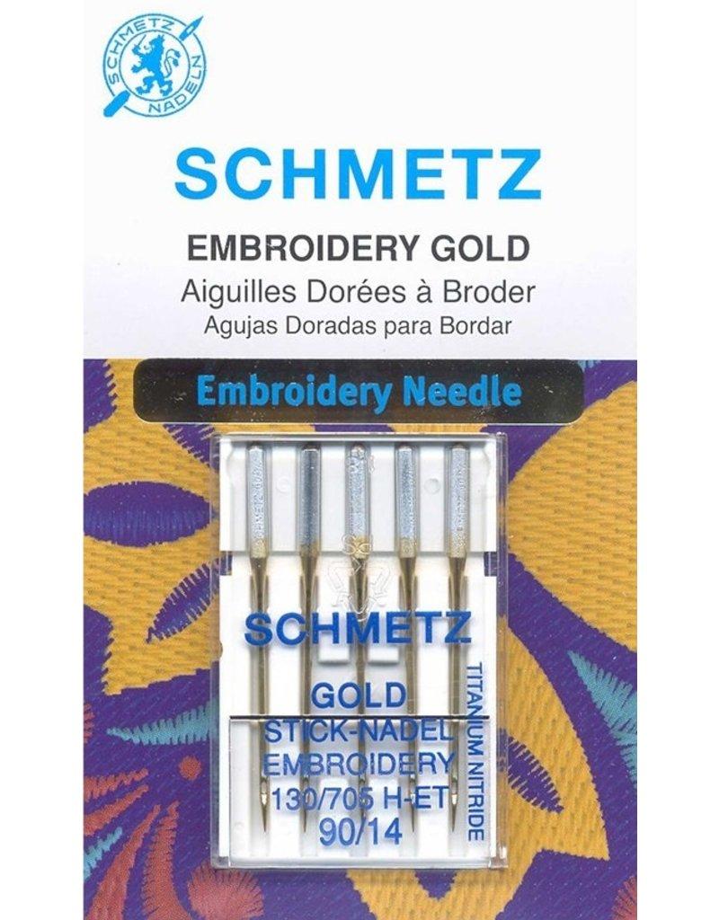 Schmetz Schmetz needles Embroidery gold titanium 90/14