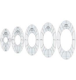 Amanda Murphy HS Amanda Murphy oval ruler kit, 5pcs