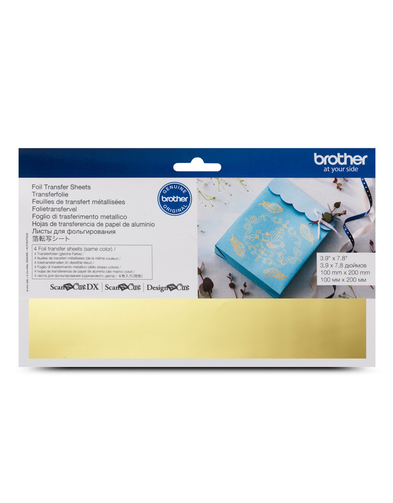 Brother foil transfer sheets gold