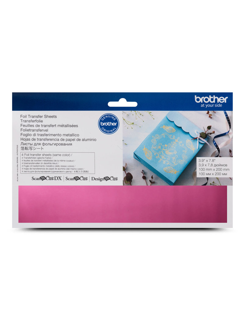 Brother Brother pink foil transfer sheets