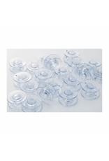Brother Canettes transparentes en plastique, emballage de 10, taille 9,2