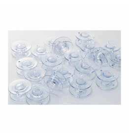 Brother Canettes Brother standards transparentes en plastique, emballage de 10, taille 11,5mm