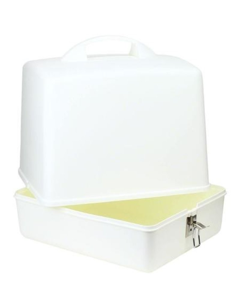 White serger carrying case