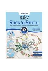 """Sulky Stabilizer Stick'N Stitch 21.5 X 28Cm (8 1/2"""" X 11'') 12 sheet"""
