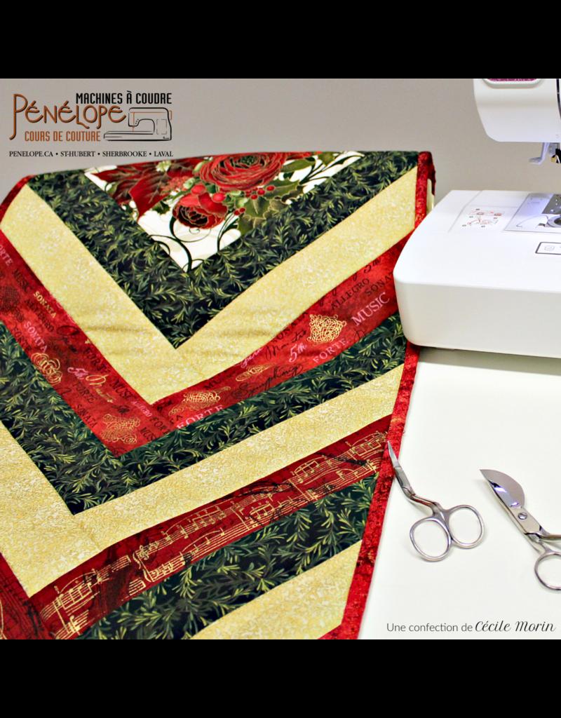 Pénélope French braid quilt design class