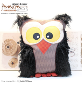 Pénélope Owl throw pillow sewing class