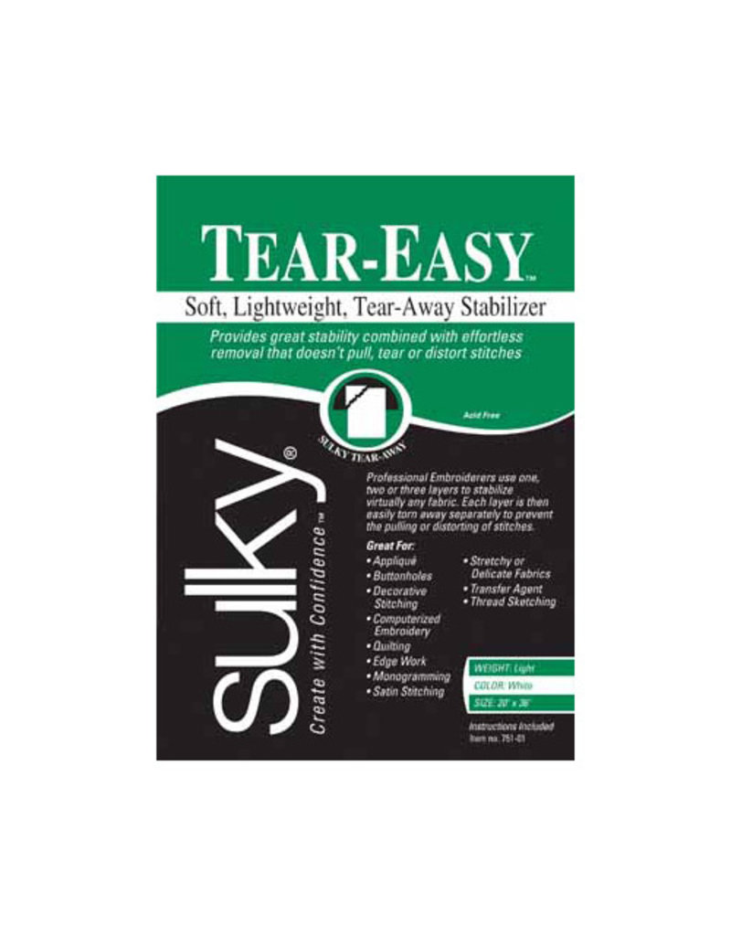 Sulky Sulky TEAR-EASY white (1 Vgs) paquet