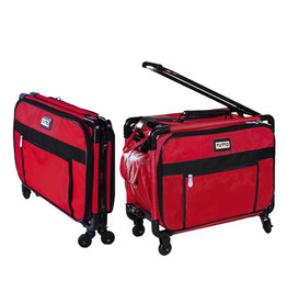 Janome Tutto Case of overlocker with wheels red 20 ''