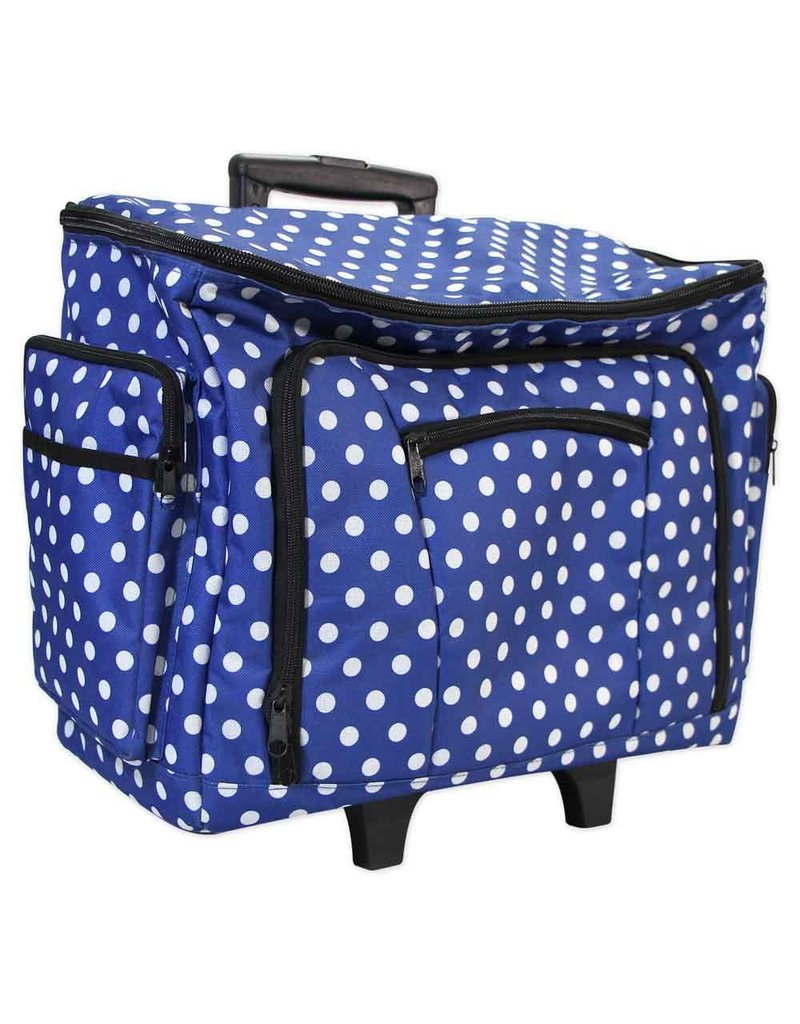 Vivace transport case blue with  polka dots
