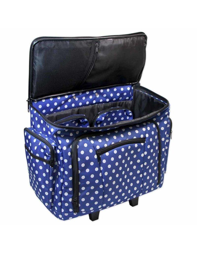Valise de transport Vivace à pois bleu
