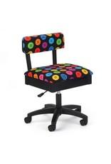Arrow Chaise noire à motif de boutons