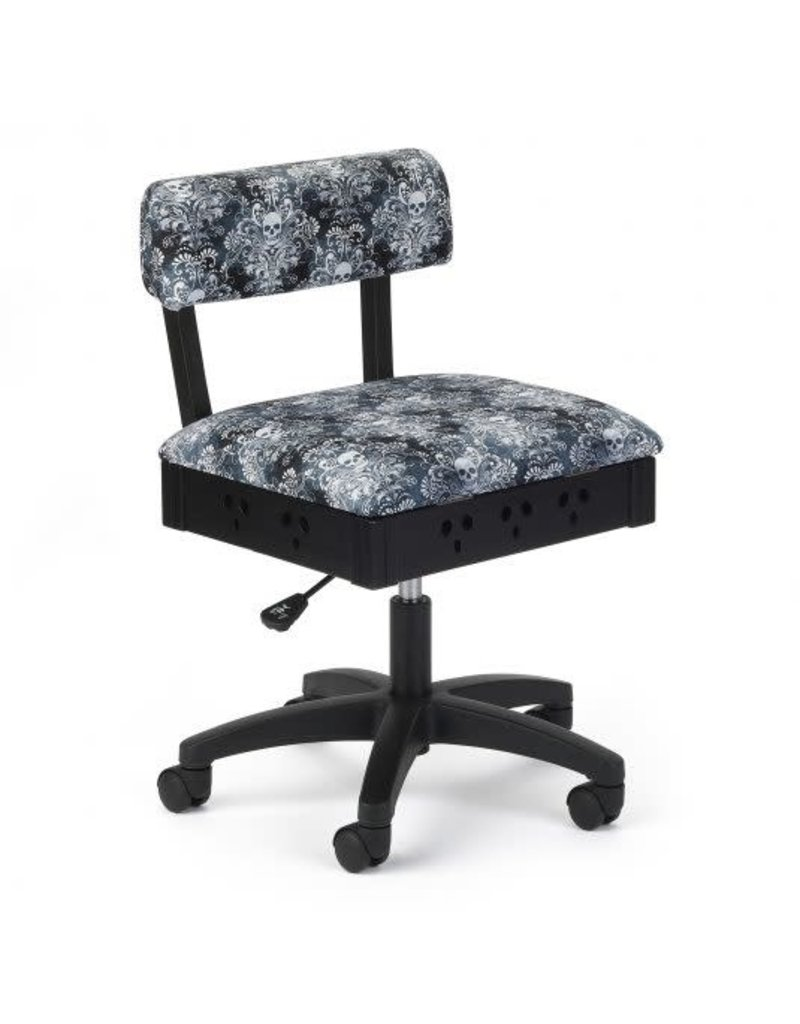 Arrow Black swivel chair with Cosplay print fabric