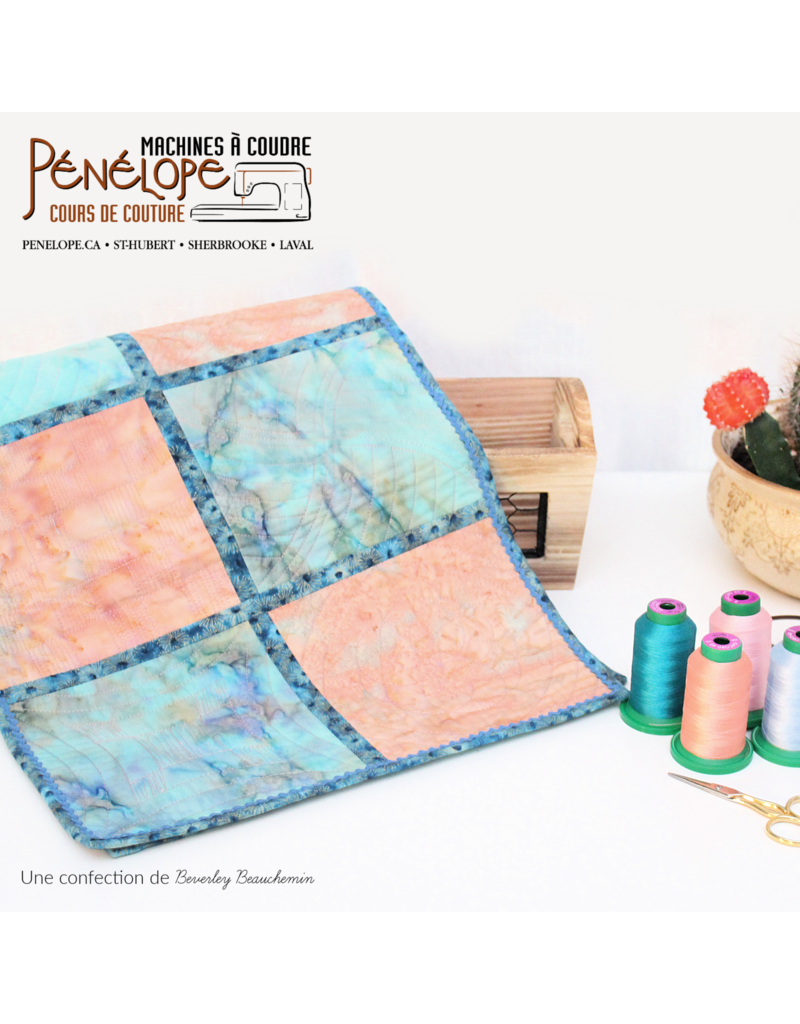 Pénélope Quilting with rulers workshop 1