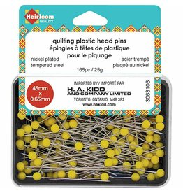 Quilting Pins  yellow Plastic Head  45X0.65Mm