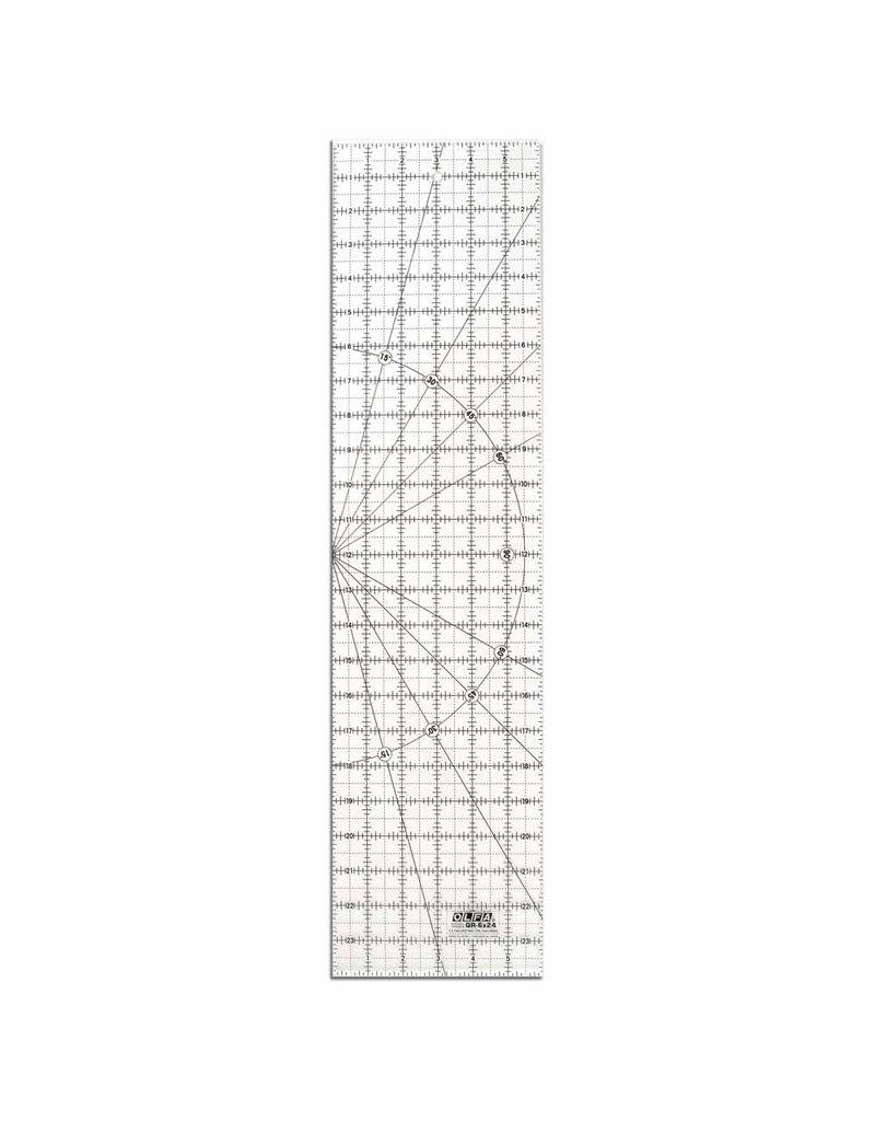 Olfa 6″ x 24″ Frosted Acrylic Ruler