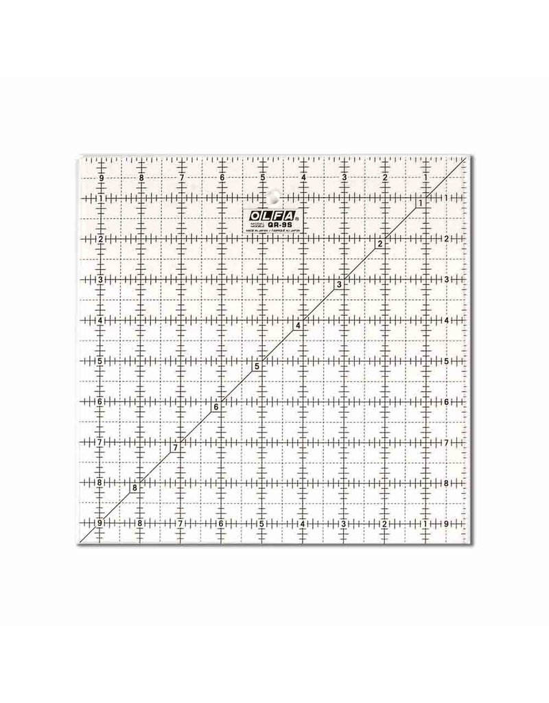 olfa 91⁄2″ Square Frosted Acrylic Ruler