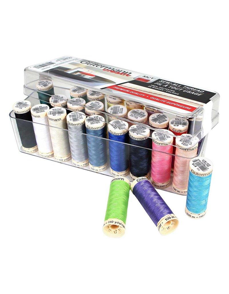 Guterman GÜTERMANN 26 pc Sew-All 100m - Thread Set in Acrylic Box - Assorted Colours