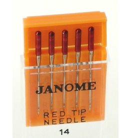 Janome Aiguilles Janome type rouge /red tip a broder 90/14
