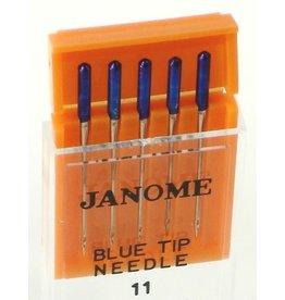 Janome Aiguilles Janome type bleu/blue tip 75/11