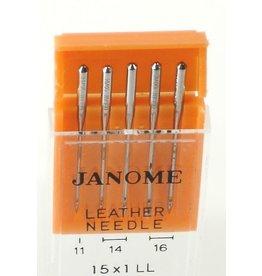 Janome Assorted Leather Needles 5/pk