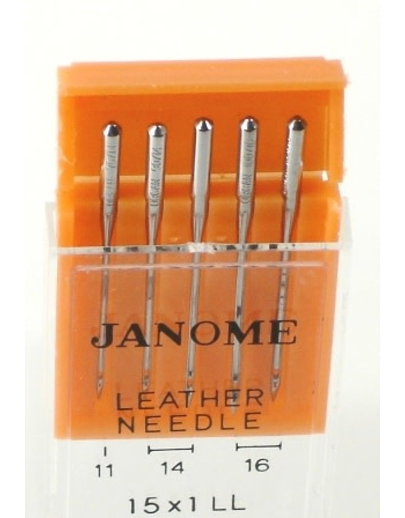 Janome Assorted Leather Needles 5/pk