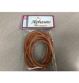 Alphasew Courroie cuir de machine a pédale diamètre 3/16 Longueur 68-72''
