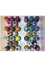 Isacord 36 spools of Isacord thread with carrying case and stand  Kit 2