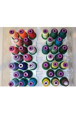 Isacord 36 spools of Isacord thread with carrying case and stand  Kit 4