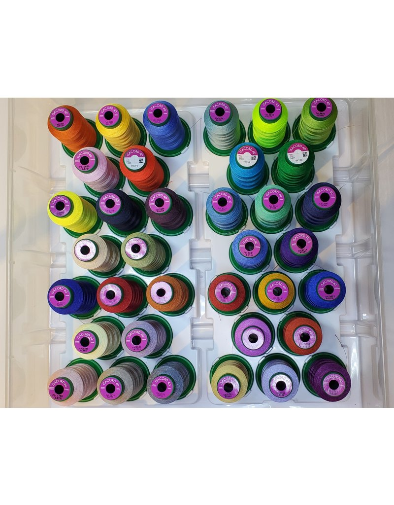 Isacord 36 spools of Isacord thread with carrying case and stand  Kit 6