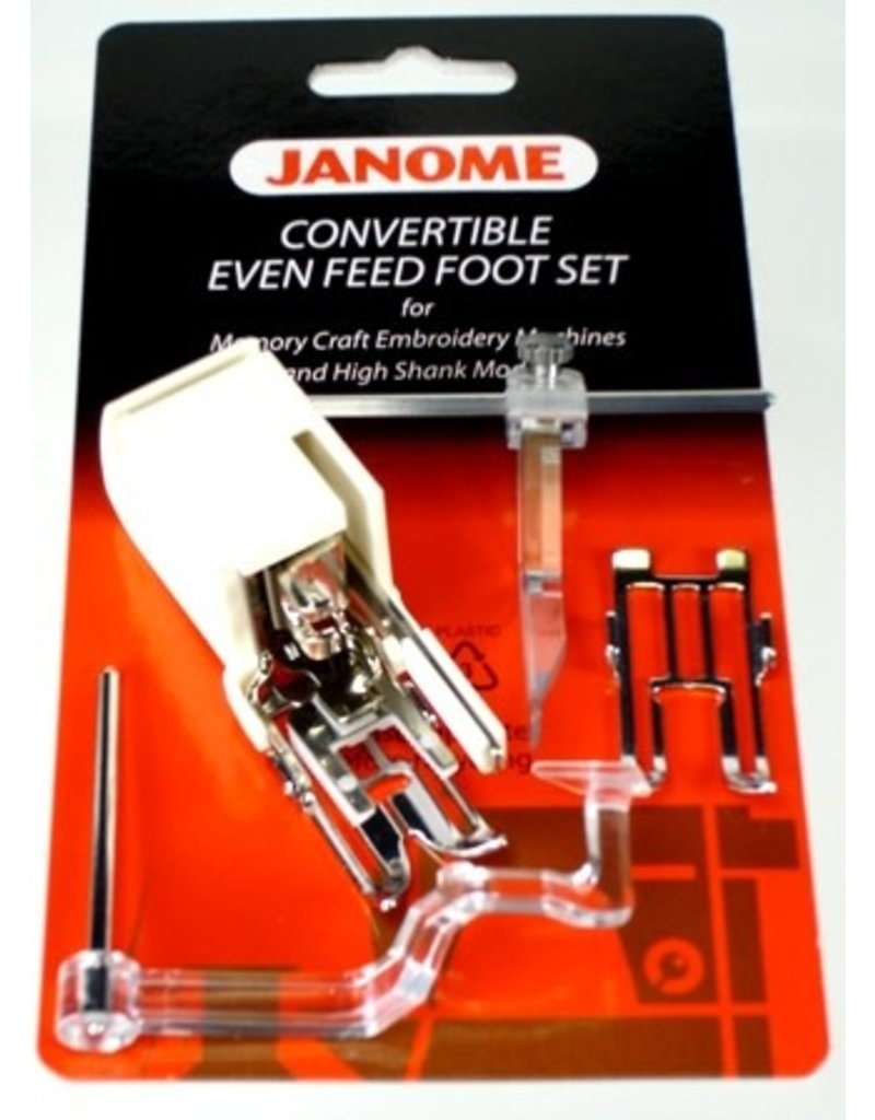 Janome Convertible Even Feed Foot Set Elna Janome 5 & 7Mm