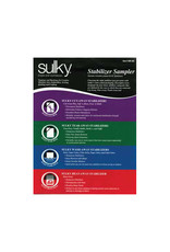 Sulky Sulky Stabilizer sampler package (1-8'' X 10'') sheet of all 19 types