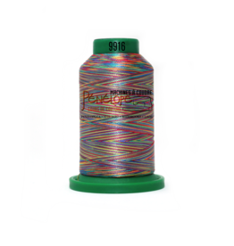 Isacord Fil Isacord multi-couleur 9916 1000 m pour broderie et couture
