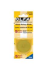 Olfa Circular rotary replacement blade Olfa 45Mm (5 Units)