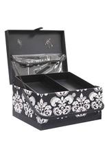 Vivace VIVACE Sewing Basket - Black & White - 34 x 27 x 20cm