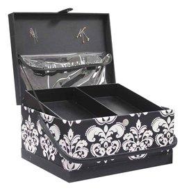 Panier couture Vivace noir et blanc 34 X 27 X 20 Cm
