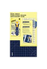 Olfa OLFA RTY-2C/STQR NBL - Quilting/Sewing Kit 3pc - Navy Blue