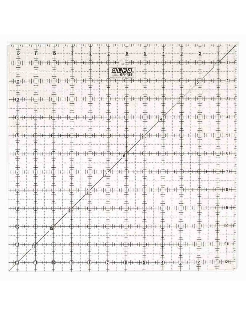 "Olfa OLFA QR-12S - 121/2"" Square Frosted Acrylic Ruler"
