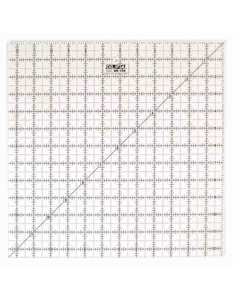 Olfa OLFA QR-12S - 121⁄2″ Square Frosted Acrylic Ruler