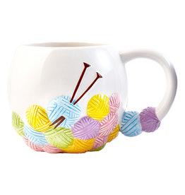 Knitting Yarn Ball Mug