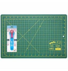 HOBBY Cutting Mat/28mm Rotary Cutter Starter Kit - 12″ x 18″ (30.5 x 45.7cm)Trousse débutant courtepointe (tapis et roulette)