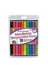 Fabric fun 10 marqueurs permanent pale pour tissus