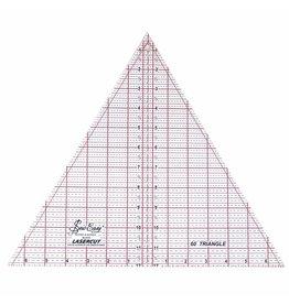 sew easy Règle de triangles à 60° SEW EASY - 12″ x 137⁄8″ (30.5 x 35.2cm)