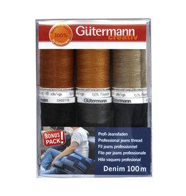 Guterman GíœTERMANN Denim Thread 6 Spool Set - 100m