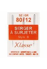 Klassé Klasse Serger Needles 80/12 Type B (Pk 3)