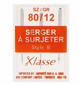Klassé Aiguilles Klassé A Surjeter 80/12 Type B (Paquet 3)