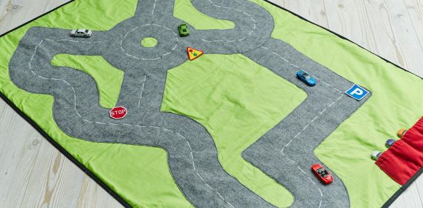 Circuit de voitures portable