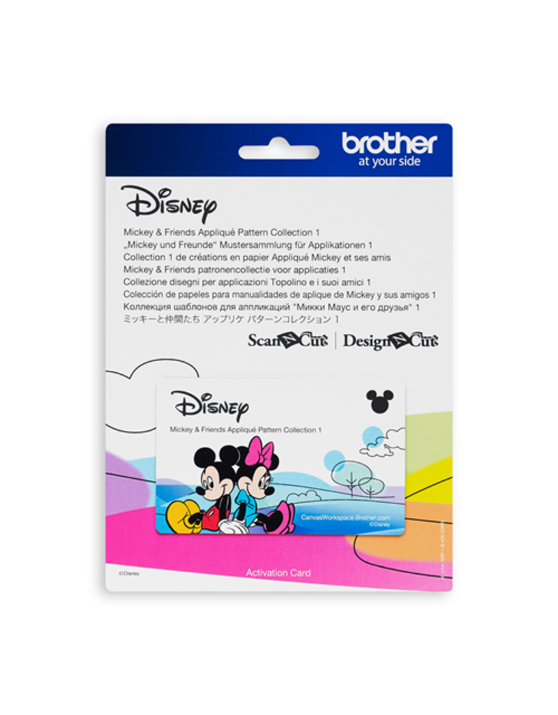 Brother Disney Mickey and friends appliqué pattern collection #1