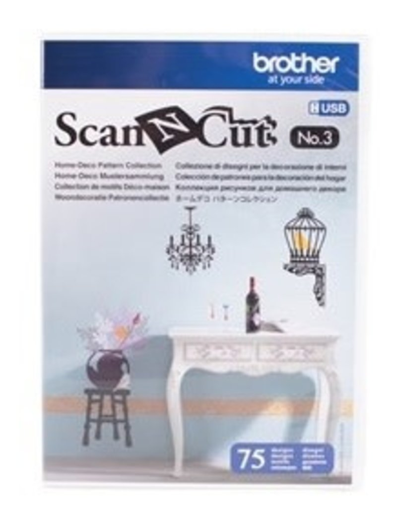 Brother Cle Usb #3 Scan Ncut Motif Deco Interieur