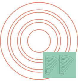Sew Steady Westalee Règle Cercles Progressif Kit #1 Ens de 2