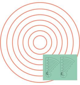 Sew Steady Westalee Règle Cercles Progressif Ens #2 Low Shank (3mm)
